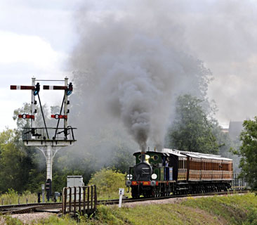 P-class pair departing from Sheffield Park - Derek Hayward - 29 August 2011