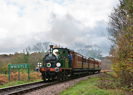 178 with one of today's three vintage passenger trains - David Haggar - 4 November 2011