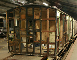 End structure of SECR 3188 being rebuilt - Dave Clarke - 7 Aug 2011