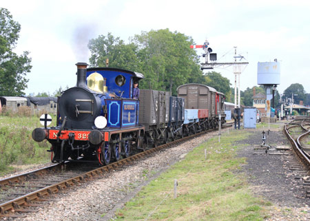 323 with goods train - Peter Edwards - 3 September 2011