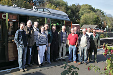 Some of the volunteers who worked on the restoration of 3363 - Jon Bowers - 22 Oct 2011