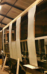 New panelling on Bulleid Composite 5768 - Dave Clarke - 29 August 2011