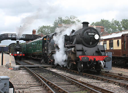 80151 and B473 at Sheffield Park - Tony Sullivan - 7 July 2011