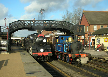 80151 and 323 at Sheffield Park - Peter Edwards - 3 December 2011