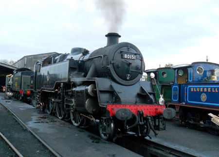 80151 on shed - Steven Lofting - 29 October 2011