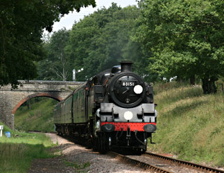 80151 at Horsted House Farm bridge - Tony Sullivan - 19 Aug 2011