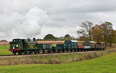 B473 with Goods train - David Haggar - 4 Nov 2011
