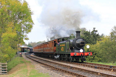 B473 leaves Kingscote - Peter Edwards - 16 Oct 2011