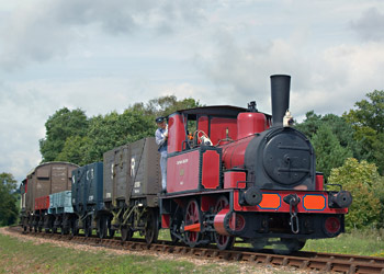 Captain Baxter with vintage goods train - Paul Pettitt - 13 Aug 2011