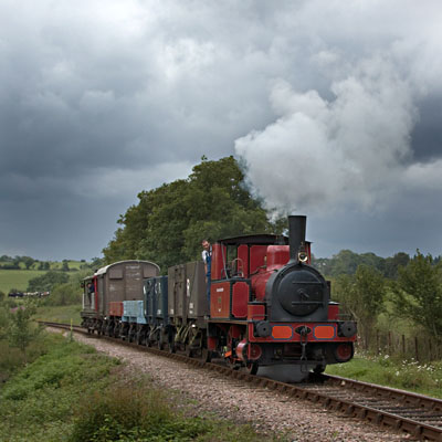 Captain Baxter with vintage goods train - Paul Pettitt - 9 July 2011
