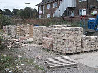Bricks palleted up ready for removal - Richard Clark - 8 Oct 2011