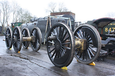 Camelot's wheelsets returned to Sheffield Park - Tony Sullivan - 8 Dec 2011