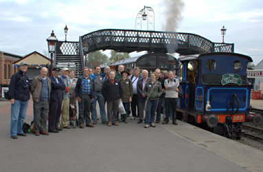 Group photo at Sheffield Park - Chris Knibbs/John Sandys - 13 Oct 2011