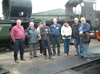 Potential new volunteers in the loco yard - David Chappell - 4 Dec 2011