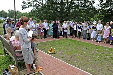 Opening of Memorial Garden at Horsted Keynes - Derek Hayward - 3 July 2011