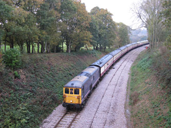 Charlotte leads the special towards the tip at Hill Place Farm Bridge - Stephen Fairweather - 5 Nov 2011