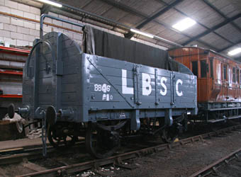 LBSCR open wagon re-planked and painted - Dave Clarke - 24 August 2011