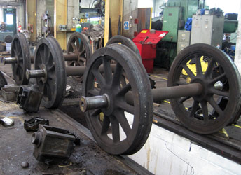 Wheels from the Q-class tender - Lewis Nodes - 18 Sept 2011