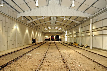 Interior of Woodpax shed, nearly completed - Derek Hayward - 29 Aug 2011