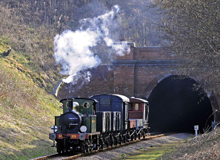 178 with goods train after leaving tunnel - Derek Hayward - 10 March 2012