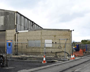 Groundworks in progress for the 'Above Workshop Facilities' - Derek Hayward - 21 January 2012