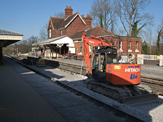 Ballast and track laying progress - Martin Lawrence - 3 February 2012