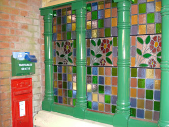 New stained glass and woodwork in Horsted Keynes porch - Ian Fribbens - 1 February 2012