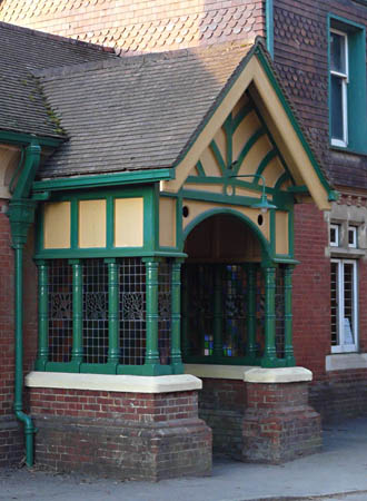 Completed restoration of Horsted Keynes porch - Ray Wills - 1 February 2012