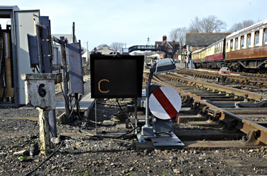 Signal controlling access to the new shed - Derek Hayward - 25 March 2012