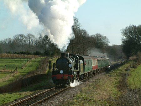 1638 with the first train of the day - David Chappell - 2 January 2012
