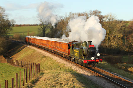 B473 with Victorian Train - Andrew Strongitharm - 2 January 2012