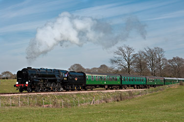 92212 with the 3pm service, on Freshfield Bank - David Haggar - 6 April 2012