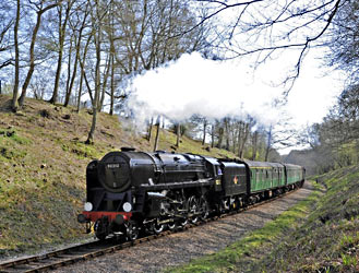 92212 approaches the tunnel - Derek Hayward - 6 April 2012