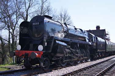 92212 ready to leave Sheffield Park - Aidan Grant - 6 April 2012