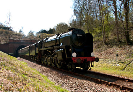 92212 bursts out of the tunnel - Jan Kool - 6 April 2012