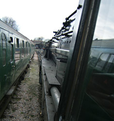 9F comes off shed - Mike Lee - 14 April 2012