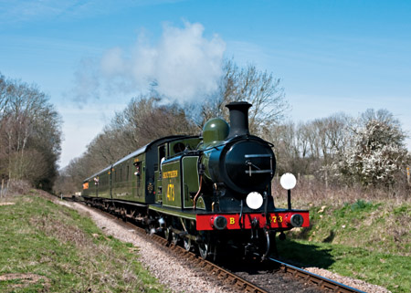 B473 with its first train of the day - David Haggar - 6 April 2012