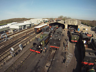 Loco Yard from pole cam - Martin Lawrence - 29 March 2012