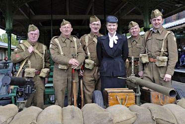 Louise with the Home Guard - Derek Hayward - 12 May 2012