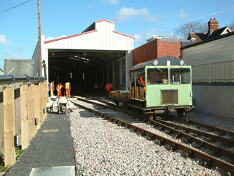 Pway work at Sheffield Park carriage shed - David Chappell - 1 April 2012