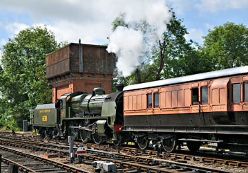 U-class 1638 with LSWR coach 1520 at Sheffield Park - Chris Jennings - 16 June 2012