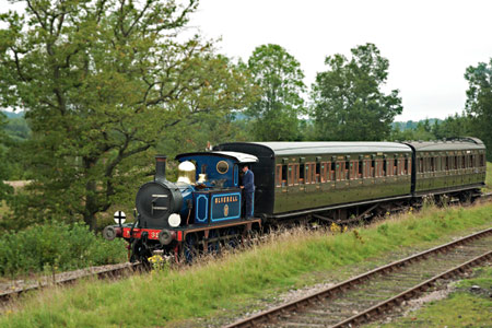 Bluebell with two SECR carriages - Martin Lawrence - 2 September 2012