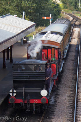 Stepney and Baxter with their train on 8 September 2012 - Ben Gray