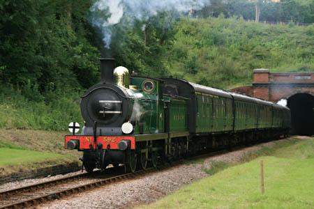 592 leads train out of the tunnel - Tony Sullivan - 19 July 2012