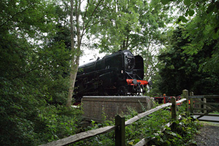 9F on the station drive - Ruth Hayllar - 13 August 2012