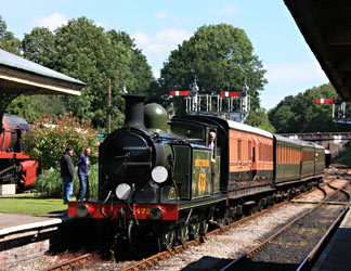 B473 arrives at Horsted Keynes with the 10.55 from Kingscote - Tony Sullivan - 22 July 2012