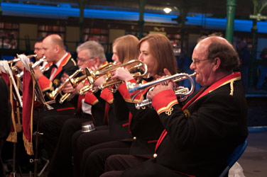 Horsham Borough Band at the Beer Brass & Steam evening - Neal Ball - 7 July 2012