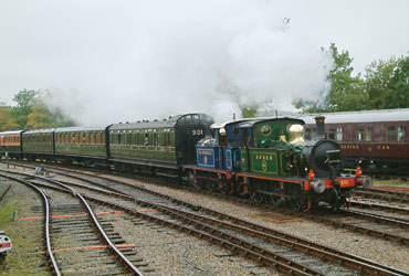 P-class pair at Horsted Keynes - David Chappell - 21 October 2012