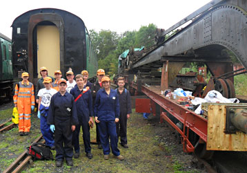 9F Club with the steam crane - Steve Booth - 16 Sept 2012