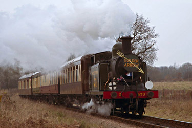 B473 with Pullman train - Martin Lawrence - 13 December 2012